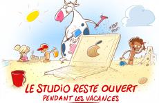 Le studio est ouvert tout l'été
