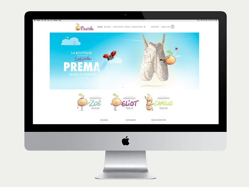 création d'un site internet boutique en ligne vetement bébé