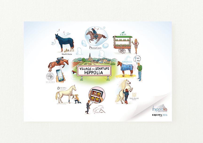 création carte evenement equestre