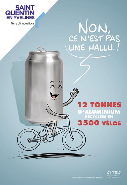 recyclage de l'aluminium en vélos