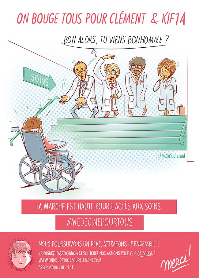 Les médecins s'adresse à Clément pour qu'il vienne à eux, or il est polyhandicapé. Ses parents non aucune considération de la part du corp médical.