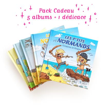 Les p'tits Normands – Pack cadeau comprenant les 5  tomes de la série + 1 dédicace