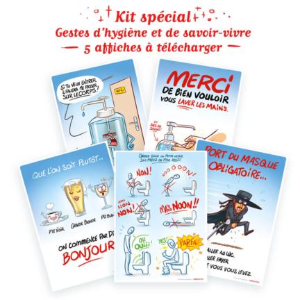 Kit spécial gestes d'hygiène et savoir-vivre