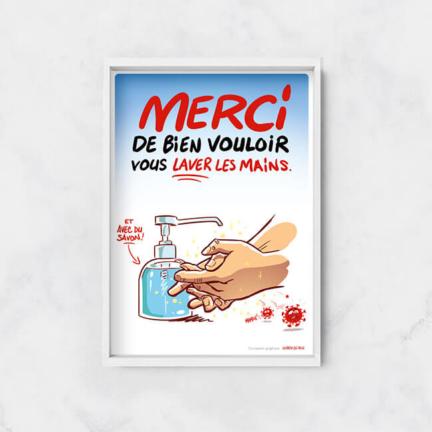 Merci de bien vouloir se laver les mains